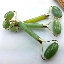 Kanbuder Podwójne Głowy Masaż Twarzy Roller Jade Twarzy Odchudzanie Ciała Szef Neck Natura Urządzenie Drop Shipping 8m19