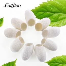 Fulljion 20 sztuk/paczka Organic Natural Jedwabiu Kokon Piłkę Mleczko Do Twarzy Anti Aging Wybielanie zaskórnika Remover Pielęgn