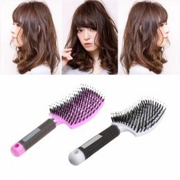 Nylon Włosia szczotka do włosów Grzebień Masaż Skóry Głowy Salon Fryzjerstwo Stylizacja Włosów Narzędzia