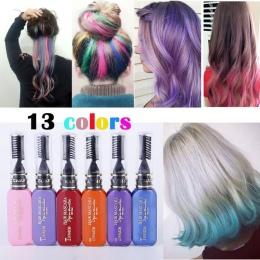 13 Kolory jednorazowa Farbowania Włosów Kolor Włosów Tymczasowe nietoksyczny DIY Kolor Włosów Barwnika Tusz Do Rzęs Krem Niebies