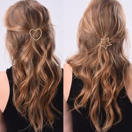 1 PC Nowy Mody Kobiety Dziewczyny Wsuwki Dziewczyny Gwiazda Serce Włosów Klip Delikatne Włosy Pin Włosów Ozdoby Biżuteria Akceso