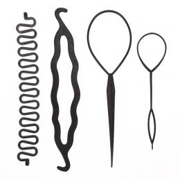 4 sztuk/zestaw Magia Włosów Braiding Twist Curler Stylizacja Zestaw Szpilka Gospodarstwa Włosów Oplatarki Ciągnąć Igły Kucyk Nar