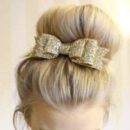 Błyszczące Cekiny Big Bowknot Barrette 1 pc Spinka Do Włosów Klip Lady Dziewczyna Styl Akcesoria Twinkle Błyskotka Hairgrip Moda