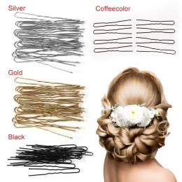 20 sztuk/partia 4 Kolory U Shaped Szpilka Do Włosów Barrette Klipy Szpilki Metalowe Kobiety Akcesoria Do Włosów Styling Tools Sp