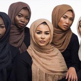 MUQGEW New Arrival Klasyczny Luksus Wiskoza Maxi Marszczone Chmura Hidżab Szalika Chusty Miękkie Szale Muzułmanin Islam & Hurt D