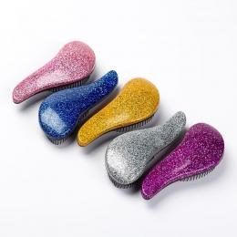 Glitter Uchwyt Gmatwanina Prysznic Szczotka Do Włosów Grzebień Salon Stylizacja Tamer Narzędzie szczotka do włosów