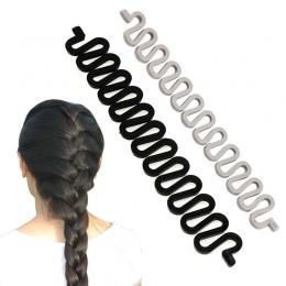 2018 Gorąca sprzedaż 6 Kolorów Moda Włosów Braiding Oplatarce Narzędzie Roller Z Magia Włosów Twist Stylizacja Bun Maker Stonoga