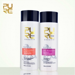 PURC Prostowania włosów Naprawy i wyprostuj uszkodzenia produktów Brazylijskiej keratyny traktowania włosów + oczyszczający szam