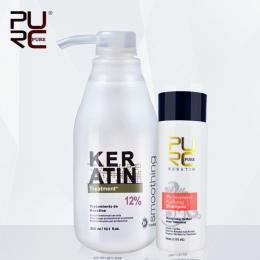 Brazylijska keratyna 12% formalina 300 ml keratyny traktowania i jeden kawałek 100 ml szampon oczyszczający gorąca sprzedaż kura