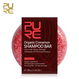 PURC Organicznej ręcznie przetwarzane na zimno Bar 100% CZYSTE i Cynamonu Cynamonu Szampon szampon do włosów żadne chemikalia i