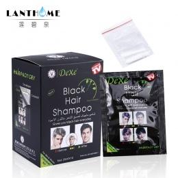 Nowy Lanthome De xe czarne włosy szampon w czarny kolor włosów Tylko 5 minut Szybka Farbowania Włosów Stałe Krem Koloryzujący wł