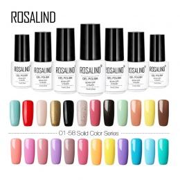 Rosalind 01-58 kolory serii Gel nail polski Jasne Kolorowe żel lakier do stemplowania Trzeba Top & Lakier Bazowy żel lakier
