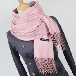 Kobiety stały kolor kaszmirowe szale z pomponem pani zima gruby ciepły szalik wysokiej jakości kobiet szal gorąca sprzedaż YR001