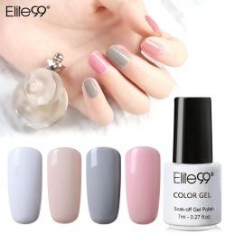Elite99 7 ml Nail Polski Kolor Żel UV Lakier Lak Vernis Semi stałe Hybrid Nail Art Manicure Pure Color Coat 58 Kolory Wybrać 1