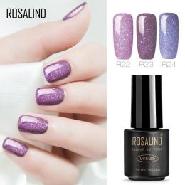 ROSALIND Żel 1 s Żel Polski Paznokci 7 ml Rainbow Shimmer Neon R01-29 Gel Nail Polski Nail Art Manicure dla nails żel uv polski