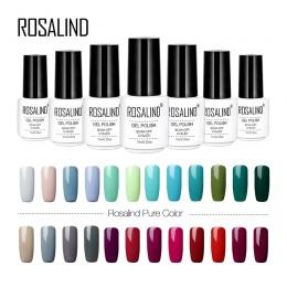 Rosalind biały butelka polski paznokci szary czerwony kolor zielony serii żel lakier UV LED Soak-off długotrwałe żel lakier