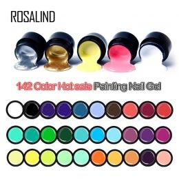 Żel Lakier ROSALIND 5 ml GORĄCEJ Sprzedaży Pure Color Żel UV Manicure DIY Nail Art Żel Polski Nail Design Malowanie Kolor Żel La