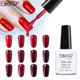 Elite99 10 ml Wina Czerwonego Koloru Serii Nail Polski Semi Permanent Żel Lakier do paznokci Soak Off Żel UV LED Lacuqer Kolorow