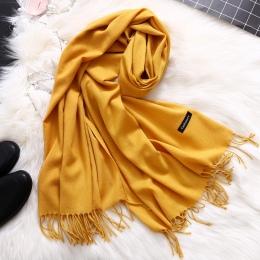 Moda 2018 nowa wiosna zima szaliki dla kobiet szale i chusty lady pashmina czysta długa kaszmirowy szalik głowy hijabs etole