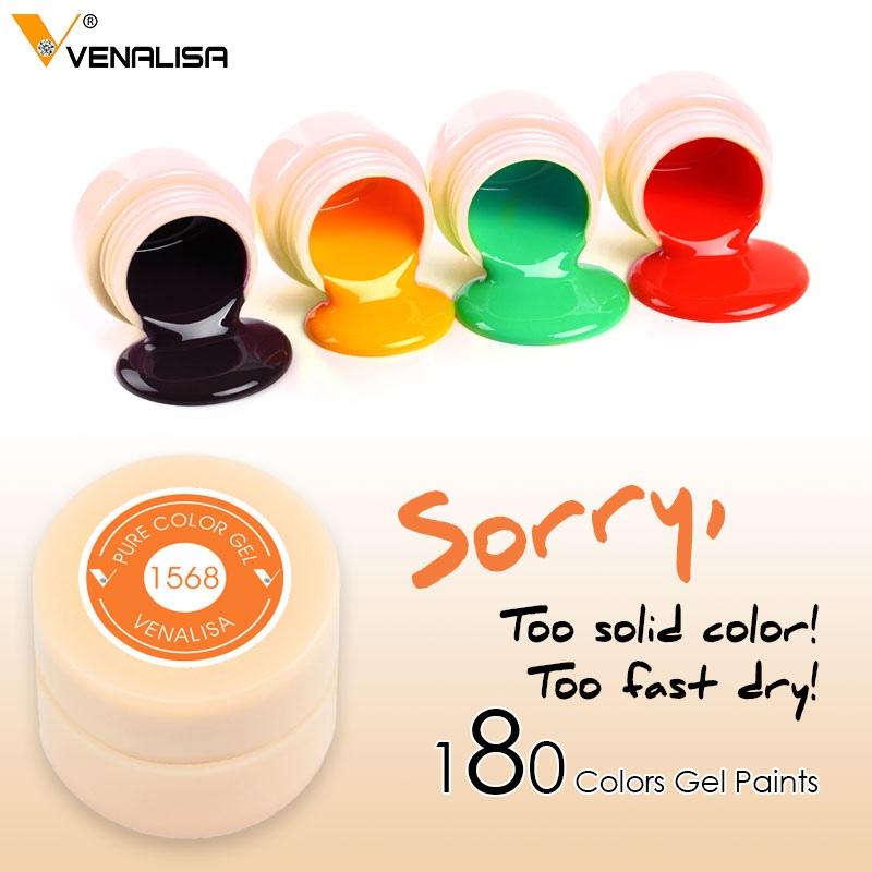 Modne ubrania Venalisa Żel Lakier 5 ml 180 Czyste Kolory Soak Off Żel UV LED DIY DH13