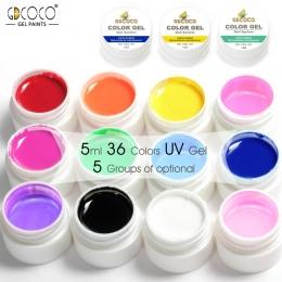 Porady DIY Nail Art Design Manicure 36 Kolor GDCOCO UV-LED Soak Off DIY Farby Tusz Kolorowy Żel UV Lakier Do Paznokci Żel Polski