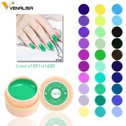Venalisa 5 ml biały jar Pure Color nail Art gel Farby CANNI Gel Porady DIY Dekoracje Ceny Fabryczne Malowanie LED i UV Gel farby