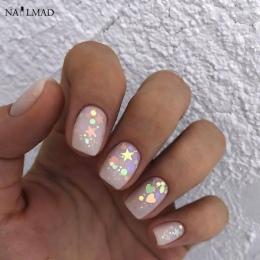 3 ml/box Nail Art Glitter Mix Gwiazda Serce Miesza Hexagon Glitter Akrylowe Paznokci Cekiny Kolorowe Glitter Nail Art Dekoracje