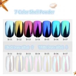 1 box Pearl Shell Chameleon Błyszczy Powłoki DIY Nail Art Pigment Chrome Lustro Paznokci Proszek Pył Manicure Dekoracje