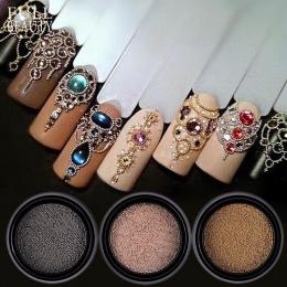 0.4/0.6mm Mini Małe Kulki Ze Stali Nierdzewnej Nails Art Dekoracje Pistolet Szary Złota Róża Caviar DIY Narzędzia Paznokci szpil
