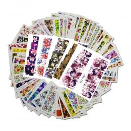 48 sztuk Mieszane 48 Wzory Nail Art Flower Pełna Folie Okłady Paznokci Nail Sticker Kalkomanie Manicure Porady STZ352-391 Transf