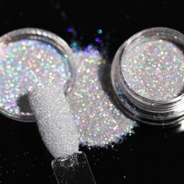 1 Pole 1g Cukru Paznokci Brokat Holograficzny Glitter Powder Shining Gorąca Sprzedaż Proszku Pyłu dla Nail Art Dekoracje