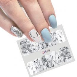1 SZTUK Biały Czarny Gradient Marmuru Manicure Nail Art Naklejka Woda Transferu Naklejka Watermark Suwak Pełna Wrap Narzędzia De