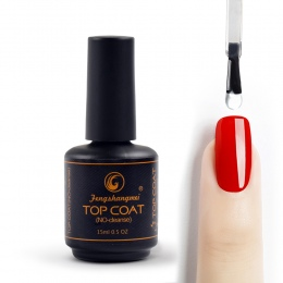 Fengshangmei 15 ml Nail Gel Polski Top Coat No Cleanse Shining Wyczyść Nail Gel Diament Top Coat