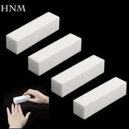 HNM 4 Sztuk/partia Gąbki Pilnik Bufora Szlifowanie Zablokuj na Żel UV Polski paznokci DIY Nail Art Manicure Pedicure Biały Bufor