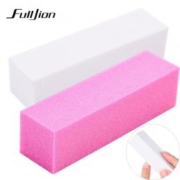 Fulljion 1 sztuk Różowy Formularz Bufory Paznokci Pliku Do Żel UV Biały Pilnik Bufora Szlifowanie Zablokuj Polski Manicure Pedic