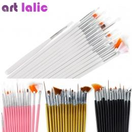 15 sztuk Nail Art Brush Dekoracje Zestaw Narzędzi Profesjonalne Malowanie Pen dla Porady Fałsz Paznokci UV Żel Polski Paznokci S