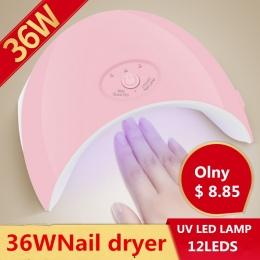 36 W Lampa LED UV Do Paznokci suszarka do Paznokci dla Wszystkich Żele Polski Manicure przycisk Idealne Rozwiązanie Thumb USB do