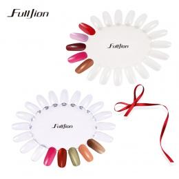 Sztuczne Paznokcie Fulljion Wyświetlacz Paleta Białe Przezroczyste