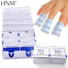 HNM 100 sztuk Nail Polski Remover Wraps Żel Polski Paznokci Łatwy Soak Off Remover Manicure Nail Art Cleaner Paznokcie Remover n