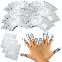 100 Sztuk/partia Folia Aluminiowa Okłady Nail Art Soak Off Żel Akrylowy Polski Paznokci Usuwanie Remover Makijaż Narzędzia