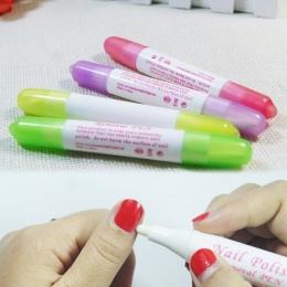 Nail Art Gel Nail Polski Remover Pen Manicure Nail Polski Remover Pen Korektor Żel UV Polski Remover Cleaner Wrap Narzędzia