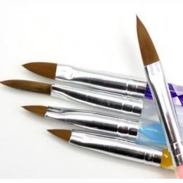 Darmowa Wysyłka 5 sztuk Pięć Rozmiar Wysokiej Jakości Profesjonalne Akryl Płyn Do Nail Art Brush Pen Żel UV Paznokci Akrylowych