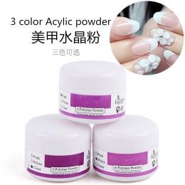 3 Opcje Kolorystyczne Różowy Biały Przezroczysty Akryl Nail Art Jasne Akryl Kolorowy Proszek Polimerowy Kryształ Dekoracji Diy Ż