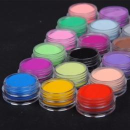 18 Kolory Proszek Akrylowy Nail Dekoracje Do Paznokci Art Proszku świecący Akrylowe UV Powder Pył Pył klejnot Paznokci Polski Da
