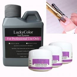 Profesjonalny Płyn Akrylowy/Krystaliczny Proszek Projekt Do Przedłużania Paznokci Żel UV Porady Fałsz Nail Art 1 Butelka 120 ml