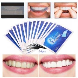 28 sztuk/14 Pair 3D Biały Żel Zęby Wybielanie Zębów zestaw Dentystyczne Wybielanie dla sztuczne Zęby Licówki idealne uśmiech den
