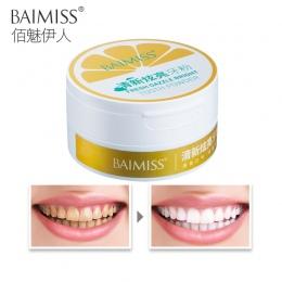 BAIMISS Zębów Wybielanie Proszku 50g Świeże Dazzle Zęby Rozjaśnić Oral Hygiene Czyszczenia Narzędzi Tablica Tartar Plamy Usuwani