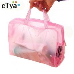 ETya 5 Kolorów Makijaż Organizator Torba Toaletowe Kąpielowy Bagażu Torba kobiety wodoodporna Przezroczysta Floral Podróży PCV k