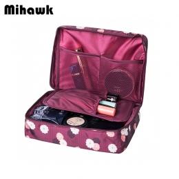 Mihawk Kosmetyczki Próżność Necessaire Podróż Kobiety Podróż Kosmetyczka Wash Biustonosz Bielizna Przypadku Makijażu Kosmetyczka
