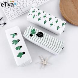 ETya Kobiety Podróż Toaletowe Kosmetyczne Torba Ołówek Make Up Makijaż Case Storage Pouch Torebka Organizator Kaktus druk Studen